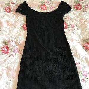 Free People black lace bodycon dress